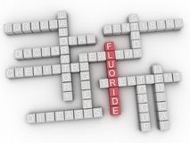 3d Fluoride Concept word cloud. 3d Fluoride issues concept word cloud background Stock Photography