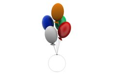 3d fly balloon concept Stock Photo