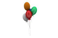 3d fly balloon concept Royalty Free Stock Photography