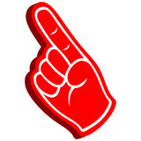 3D Foam Finger Stock Photography