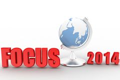 3d Focus 2014 Royalty Free Stock Image