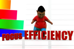 3d focus efficiency illustration Stock Images