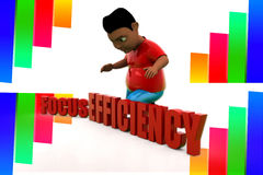 3d focus efficiency illustration Stock Photography
