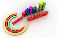 3d focus growth  concept Stock Photo