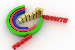 3d focus growth concept Royalty Free Stock Photo
