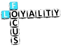 3D Focus Loyalty Crossword. On white background Royalty Free Stock Images