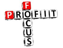 3D Focus Profit Crossword. On white background Stock Photography
