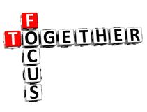 3D Focus Together Crossword Royalty Free Stock Images