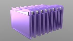 3D Folder. Folder is containing some white papers inside - 3D rendering Stock Images