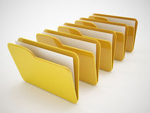 3d folder icons. 3d high quality render Royalty Free Stock Photo