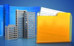 3d of folder Royalty Free Stock Photography