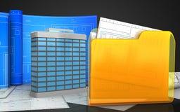 3d of folder Stock Photo