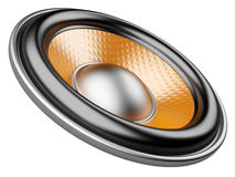 3d folder with speaker. audio-book concept Royalty Free Stock Photography
