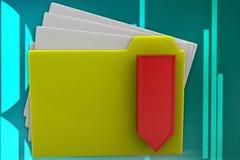 3d folder -zip illustration Royalty Free Stock Images