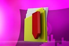 3d folder -zip illustration Royalty Free Stock Image
