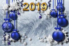 3d fondo, buon anno 2019 illustrazione vettoriale