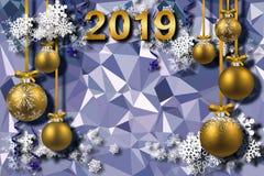 3d fondo, Feliz Año Nuevo 2019 ilustración del vector