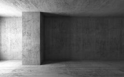 3d fondo, interior concreto gris vacío del sitio stock de ilustración