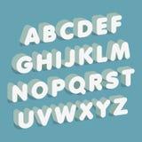 3d font. Alphabet letters. Vector illustration. Royalty Free Stock Photo