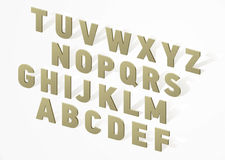 3D font alphabet Royalty Free Stock Image