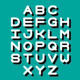 3D Font and Alphabet. Vector alphabet letters. English alphabet. eps 10 stock illustration
