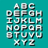3D Font and Alphabet. Vector alphabet letters. English alphabet. eps 10 Stock Photos