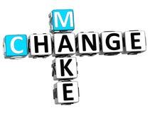 3D font des mots croisé de changement Images libres de droits