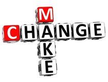 3D font des mots croisé de changement Image stock
