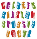 3d font with good style, simple letters alphabet. Royalty Free Stock Photo