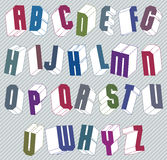 3d font with good style, simple shaped geometric letters alphabe Stock Images