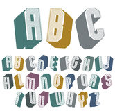 3d font with good style, simple shaped geometric letters Royalty Free Stock Photos