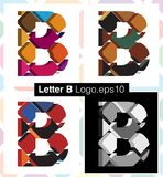 3d font letter B. Colorful three-dimensional font letter B Royalty Free Stock Photos