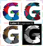 3d font letter G. Colorful three-dimensional font letter G Royalty Free Stock Images