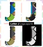 3d font letter J. Colorful three-dimensional font letter J Royalty Free Stock Photos