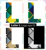 3d font letter L. Colorful three-dimensional font letter L Royalty Free Stock Image