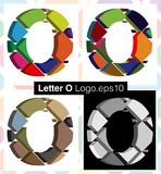 3d font letter O. Colorful three-dimensional font letter O Royalty Free Stock Photos