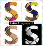 3d font letter S. Colorful three-dimensional font letter S Royalty Free Stock Photos