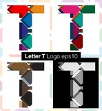 3d font letter T. Colorful three-dimensional font letter T Stock Images