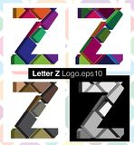 3d font letter Z. Colorful three-dimensional font letter Z Stock Photo