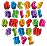3d font, vector colorful letters. Stock Photos