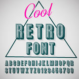 3d font. Vector retro 3D font with shadow. Vintage poster. Illustration EPS10 Stock Images