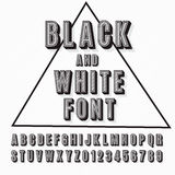 3d font. Vector retro 3D font with shadow. Vintage poster. Illustration EPS10 Royalty Free Stock Images