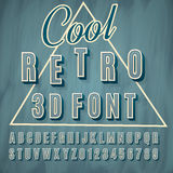 3d font. Vector retro 3D font with shadow. Vintage poster. Illustration EPS10 Stock Photos