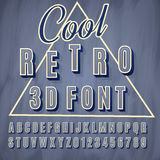 3d font. Vector retro 3D font with shadow. Vintage poster. Illustration EPS10 Royalty Free Stock Photography