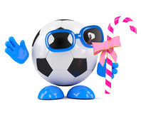 3d Football with candy Royalty Free Stock Images