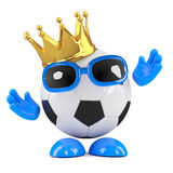 3d Football champ Royalty Free Stock Photos