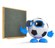 3d Football dude at the blackboard Royalty Free Stock Image