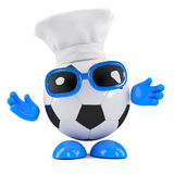 3d Football dude is a chef now Stock Image