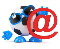 3d Football email symbol Stock Photo