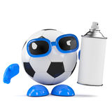 3d Football grafitti Royalty Free Stock Photo